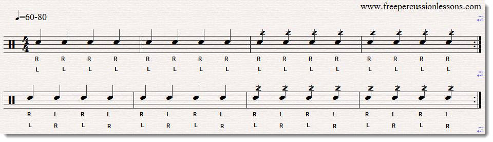 snare drum buzz roll exercise 1 sheet music