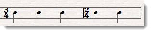 three four and two four time signatures