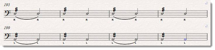 tied and separated timpani rolls sheet music