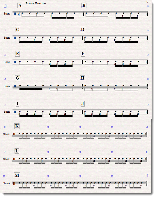 duple base rhythm exercise 1