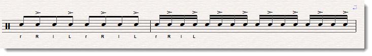 even sounding open stroke roll