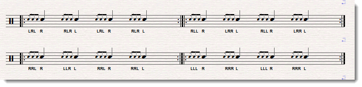 four stroke ruff