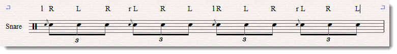 flam accent notation 1