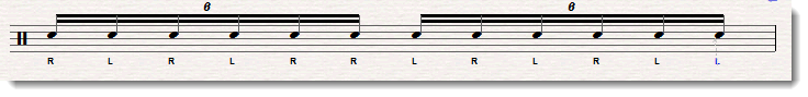 double paradiddle rudiment sheet music 1