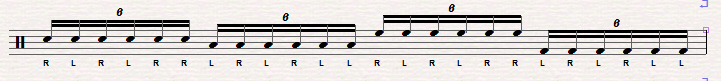 double paradiddle rudiment sheet music 2