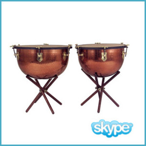 60 minute live session percussion lessons via skype